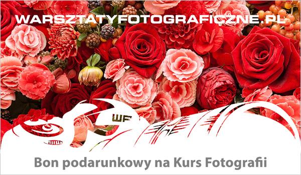 Bon podarunkowy na Kurs Fotografii. Prezent na Dzień Kobiet.